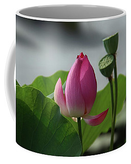 Lotus Flower In Pure Magenta Coffee Mug by Yvonne Wright