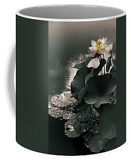 Coffee Mug featuring the photograph Lotus In The Mist by Jessica Jenney