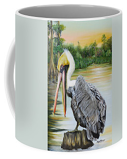 Coffee Mug featuring the painting Louisiana Sunrise by Phyllis Beiser