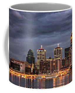 Coffee Mug featuring the photograph Louisville At Dusk by Andrea Silies