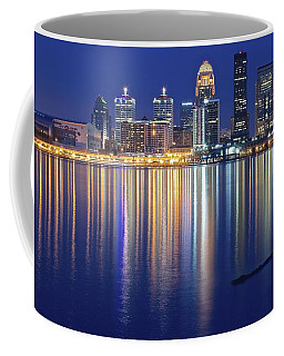Louisville During Blue Hour Coffee Mug by Frozen in Time Fine Art Photography