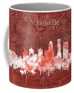 Louisville Kentucky Skyline Vintage 5 Coffee Mug