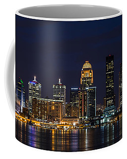 Coffee Mug featuring the photograph Louisville Skyline by Andrea Silies