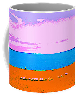 Lounge Chairs On The Beach Coffee Mug