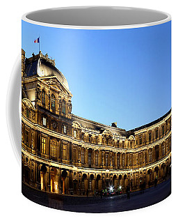 Coffee Mug featuring the photograph Louvre At Night 1 by Andrew Fare