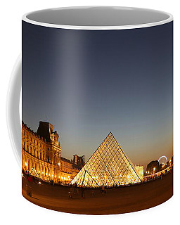 Coffee Mug featuring the photograph Louvre At Night 2 by Andrew Fare