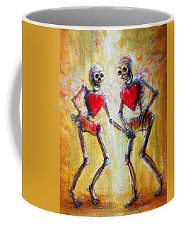 Coffee Mug featuring the painting Love 2 Love by Heather Calderon