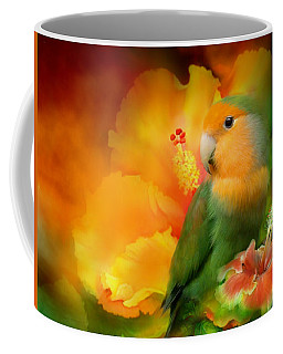 Love Among The Hibiscus Coffee Mug