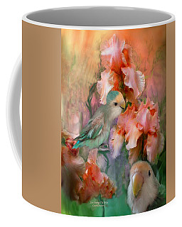 Love Among The Irises Coffee Mug