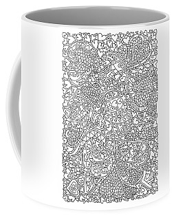 Love And Chrysanthemum Filled Hearts Vertical Coffee Mug by Tamara Kulish