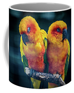 Coffee Mug featuring the photograph Love Birds by Chris Lord