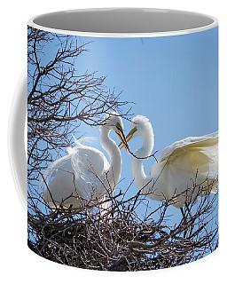 Love Birds On A Nest Coffee Mug