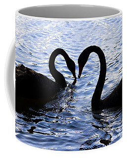 Love Birds On Swan Lake Coffee Mug