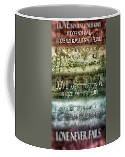 Coffee Mug featuring the digital art Love Does Not Delight In Evil by Angelina Vick