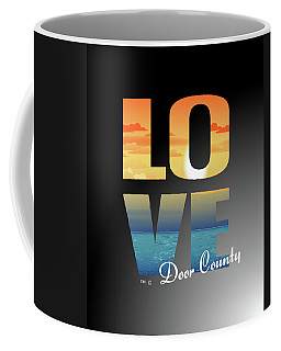 Love Door County Coffee Mug