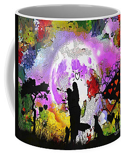 Coffee Mug featuring the painting Love Family And Friendship In The Mix by Catherine Lott
