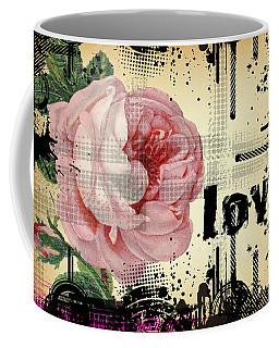 Love Grunge Rose Coffee Mug