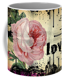 Love Grunge Rose Coffee Mug by Robert G Kernodle