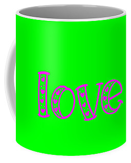 Love In Magenta And Green Coffee Mug
