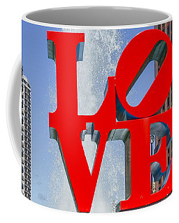 Coffee Mug featuring the photograph Love In Philadelphia Pa by Bill Cannon