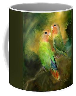 Love In The Golden Mist Coffee Mug