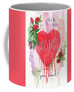 Coffee Mug featuring the painting Love In Your Heart by Marilyn Smith