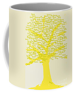 Coffee Mug featuring the painting Love Inspiration Tree by Go Van Kampen