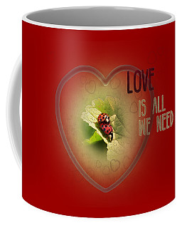 Coffee Mug featuring the digital art Love Is All We Need by Jutta Maria Pusl