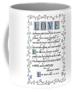Love Is Always Patient-with Border Coffee Mug