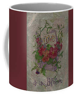Coffee Mug featuring the painting Love Is In Bloom Botanical by Judith Cheng