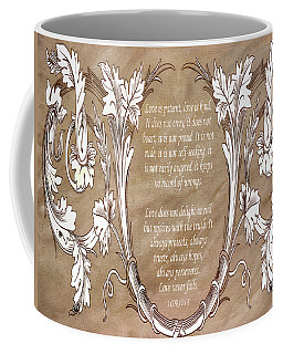 Coffee Mug featuring the digital art Love Is Patient by Angelina Vick
