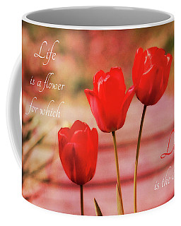 Coffee Mug featuring the photograph Love Is The Honey by Trina Ansel