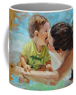Coffee Mug featuring the painting Love by Laura Lee Zanghetti