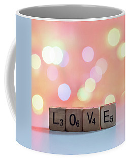 Love Lights Square Coffee Mug by Terry DeLuco