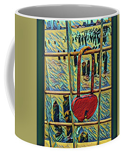 Love Locked On The Hudson Coffee Mug by Bruce Carpenter