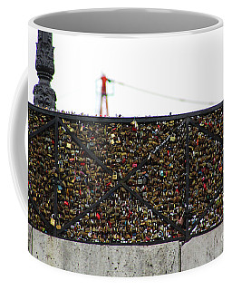 Love Locks Bridge Ile De Cite Paris Coffee Mug