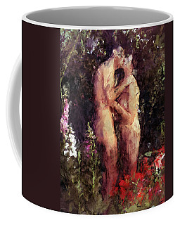 Love Me In The Garden Coffee Mug by Kurt Van Wagner
