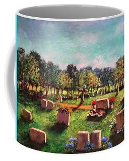 Coffee Mug featuring the painting Love Never Dies  Amor Nunca Muere by Randol Burns