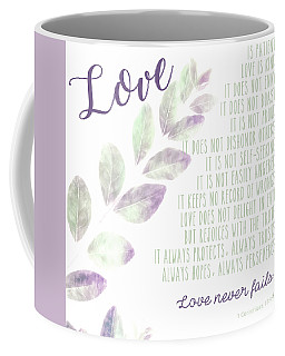 Coffee Mug featuring the photograph Love Never Fails by Andrea Anderegg