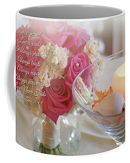 Coffee Mug featuring the photograph Love Never Fails by Trina Ansel