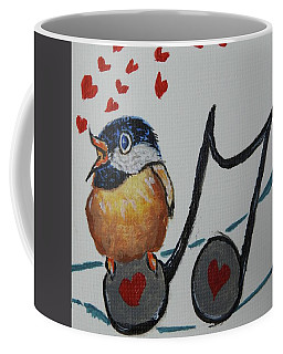 Love Notes - Whimsical Original Painting #649 Coffee Mug