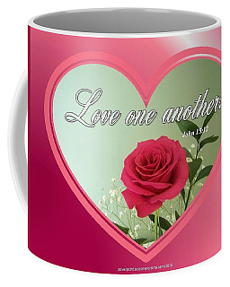 Coffee Mug featuring the digital art Love One Another Card by Sonya Nancy Capling-Bacle