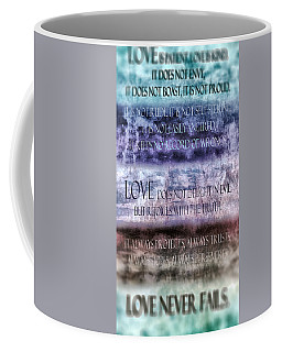 Coffee Mug featuring the digital art Love Rejoices With The Truth by Angelina Vick