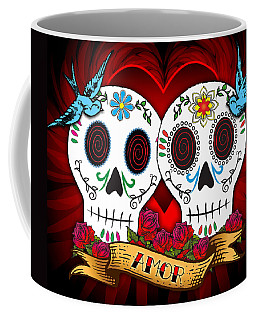Love Skulls Coffee Mug by Tammy Wetzel