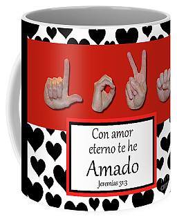 Love Spanish Bw Graphic Coffee Mug