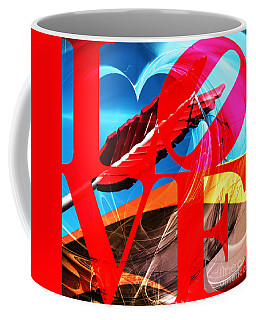Coffee Mug featuring the photograph Love Swirls At The San Francisco Cupids Span Sculpture Dsc1819 by Wingsdomain Art and Photography