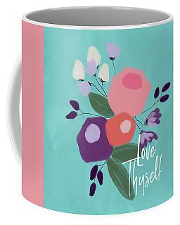 Love Thyself- Art By Linda Woods Coffee Mug