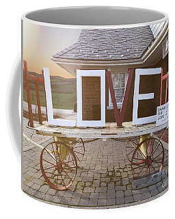 Coffee Mug featuring the digital art Love Train  by Melissa Messick