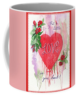 Coffee Mug featuring the painting Love Valentine by Marilyn Smith
