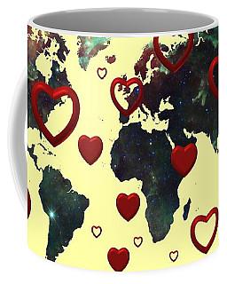 Love World Map 2 Coffee Mug